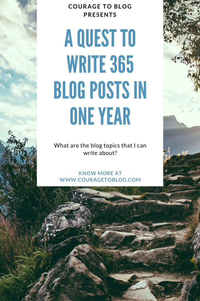 A Quest to Write 365 Blog Post in One Year