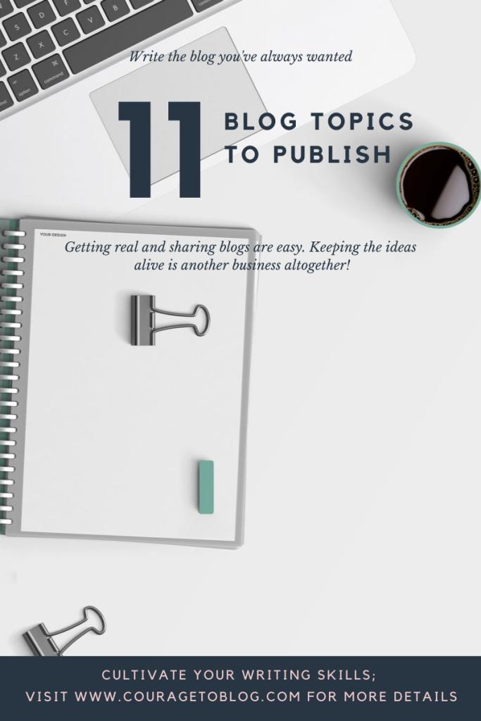 11 Blog Topics To Publish